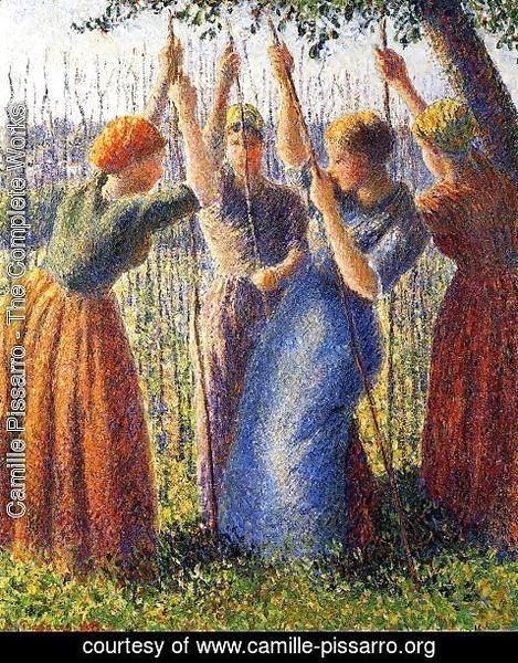 Camille Pissarro - Peasant Women Planting Stakes