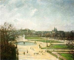 Camille Pissarro - The Tuileries Gardens, Afternoon, Sun