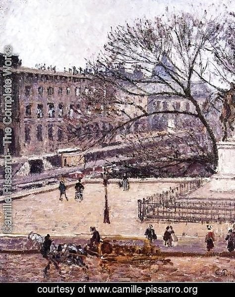 Camille Pissarro - The Treasury and the Academy, Gray Weather