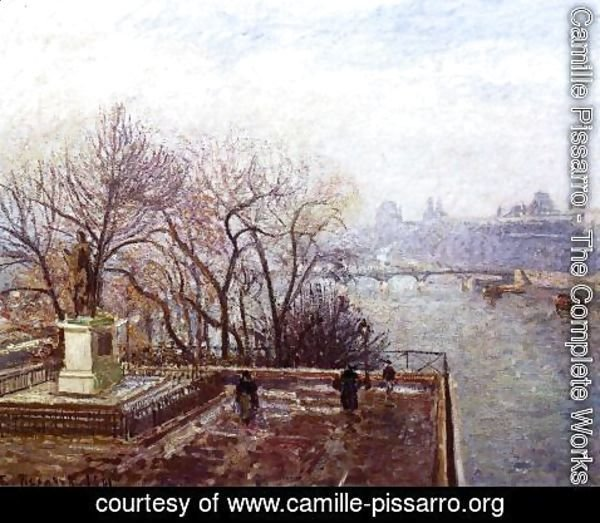 Camille Pissarro - The Louvre, Morning, Mist