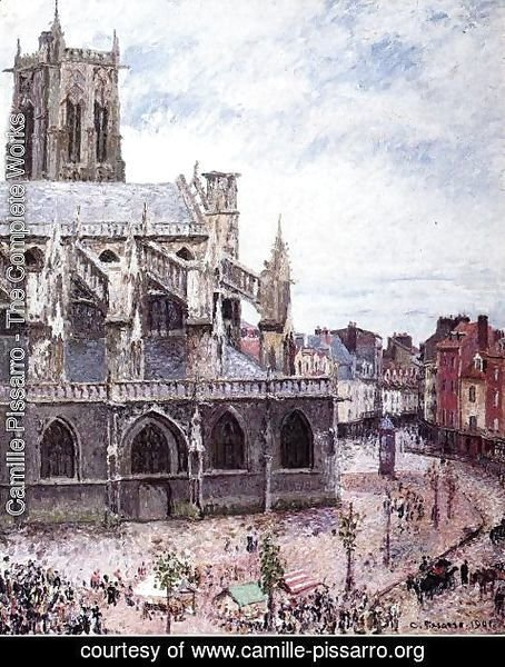 Camille Pissarro - The Church of Saint-Jacues, Dieppe, Rainy Weather