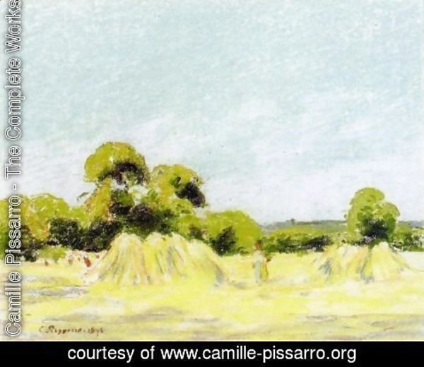 "Camille Pissarro - Study for ""The Harvest at Montfoucault"