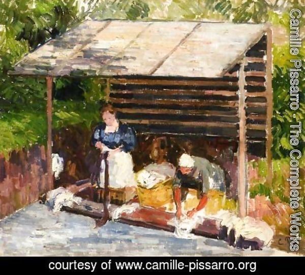 Camille Pissarro - Laundresses at Eragny I