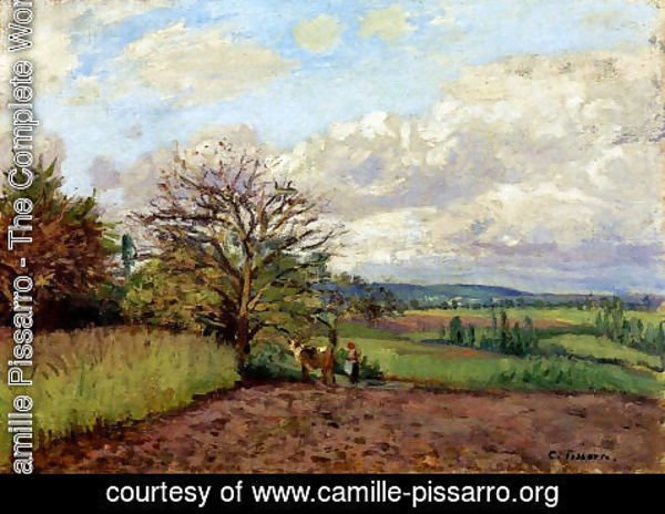 Camille Pissarro - Landscape with a Cowherd