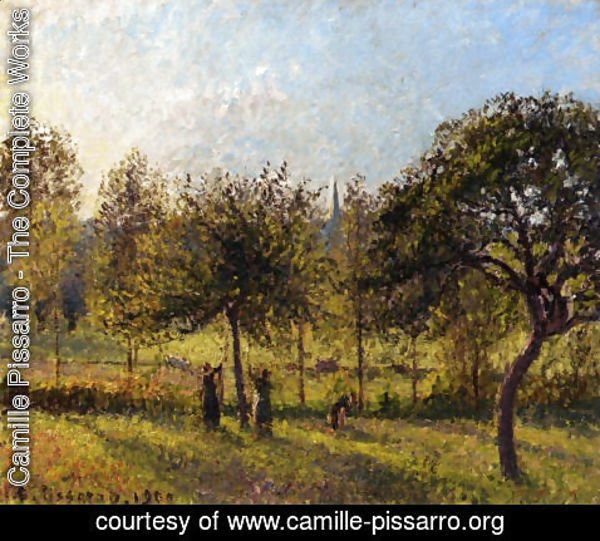 Camille Pissarro - Setting Sun, Autumn in Eragny