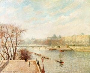 Camille Pissarro - The Louvre, Winter Sunlight, Morning, 2nd Version