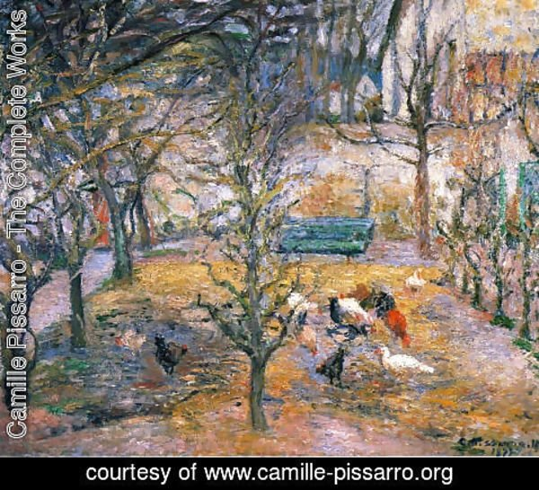 Camille Pissarro - Farmyard at the Maison Rouge, Pontoise