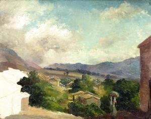 Camille Pissarro - Mountain Landscape at Saint Thomas, Antilles (unfinished)