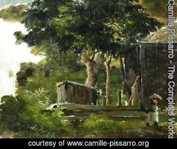 Camille Pissarro - Landscape with House in the Woods in Saint Thomas, Antilles