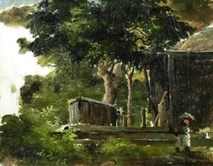 Landscape with House in the Woods in Saint Thomas, Antilles