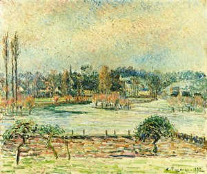 View of Bazincourt, Flood, Morning Effect