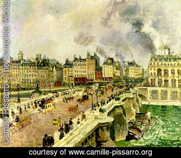 "Camille Pissarro - The Pont Neuf, Shipwreck of the ""Bonne Mere"""