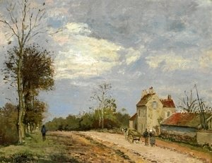Camille Pissarro - The House of Monsieur Musy, Route de Marly, Louveciennes