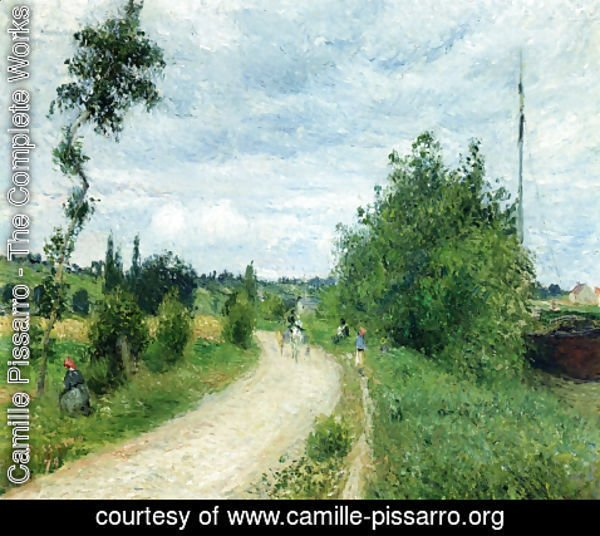 Camille Pissarro - The Auvers Road, Pontoise