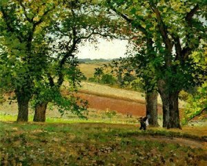 Camille Pissarro - The Chestnut  Trees at Osny