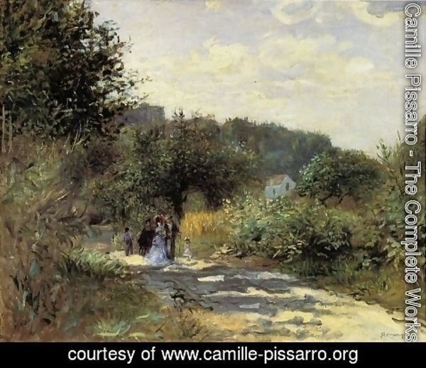 Camille Pissarro - A Road in Louveciennes 2