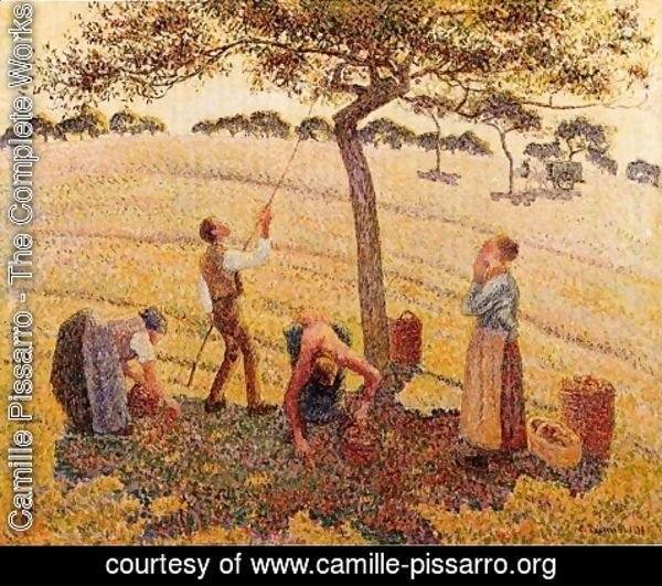 Camille Pissarro - Apple harvest at Eragny