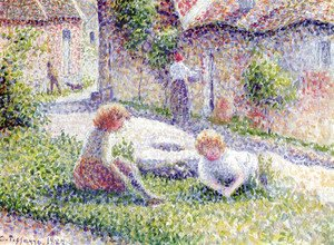 Camille Pissarro - Children on a farm