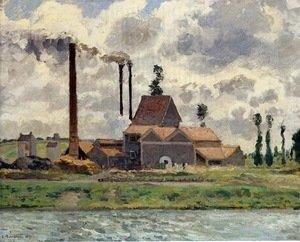 Camille Pissarro - Factory at Pontoise 1