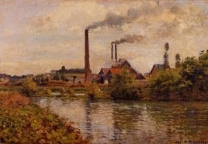 Camille Pissarro - Factory at Pontoise 2