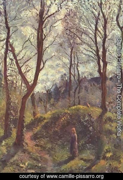 Camille Pissarro - Landscape with large trees