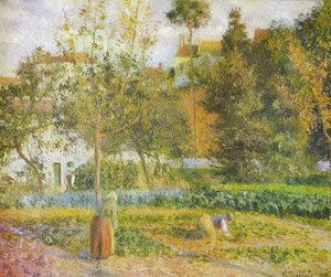 Camille Pissarro - Orchard at L'Hermitage, Pontoise
