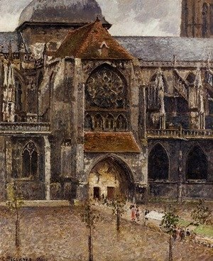 Camille Pissarro - Portal of the Church Saint-Jacques, Dieppe