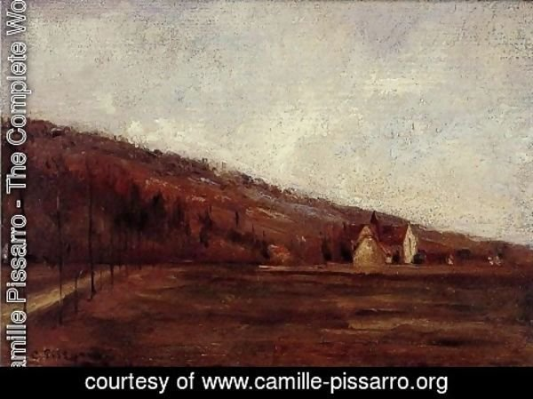 Camille Pissarro - The Banks of Marne in Winter (Study)