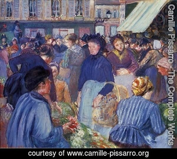 Camille Pissarro - The Market at Gisors 1