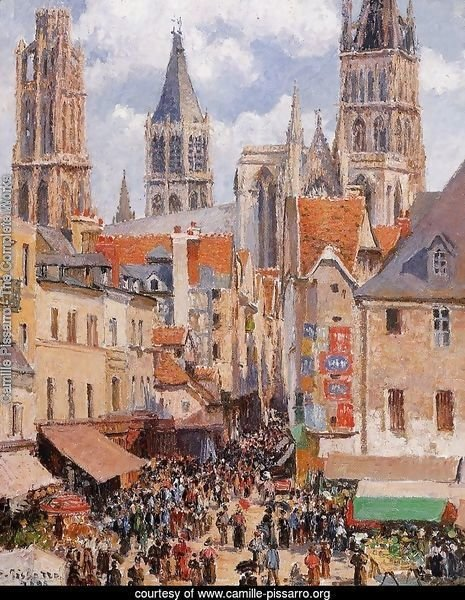 The Old Market and the Rue de l'Epicerie in Rouen