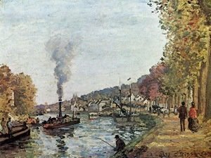 Camille Pissarro - The Seine at Marly 1