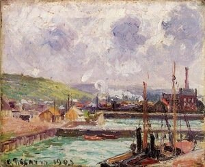 Camille Pissarro - View of Dunquesne and Berrigny Basins in Dieppe
