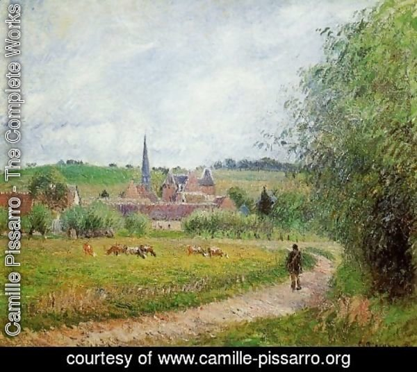 Camille Pissarro - View of Eragny 1