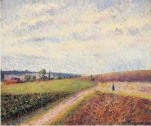 Camille Pissarro - View of Eragny 2