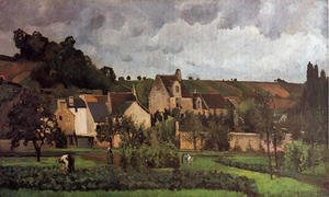 Camille Pissarro - View of l'Hermitage at Pontoise