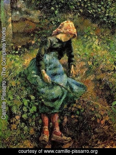 Camille Pissarro - Young Peasant Girl with Stick
