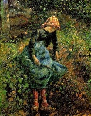 Young Peasant Girl with Stick