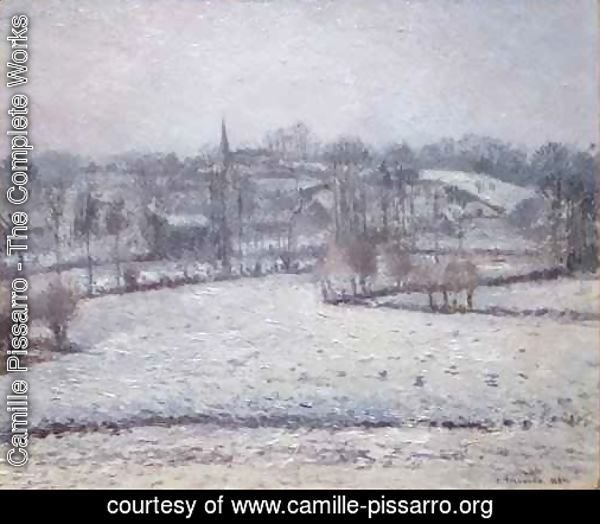 Snow Scene at Eragny View of Bazincourt