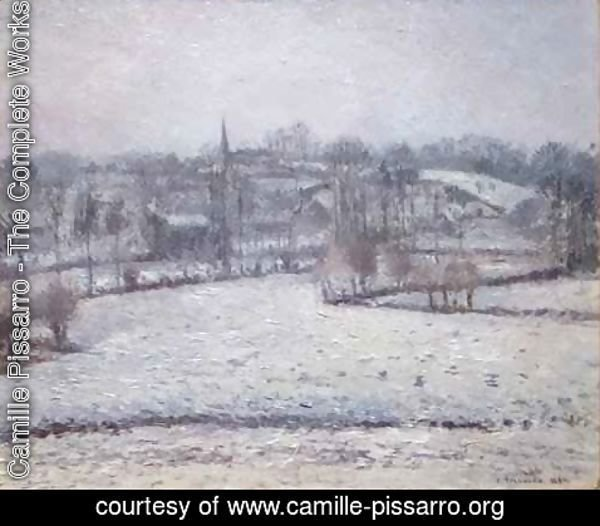 Camille Pissarro - Snow Scene at Eragny View of Bazincourt