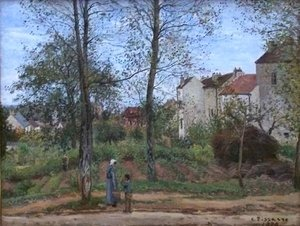 Camille Pissarro - Houses at Bougival Autumn