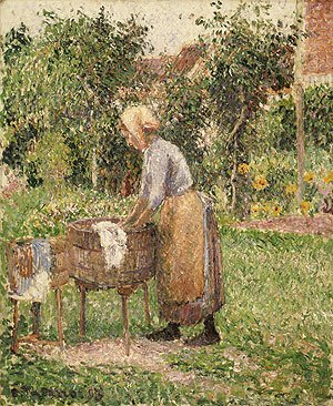 A Washerwoman at Eragny 1893