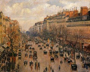 Camille Pissarro - Boulevard Montmartre Afternoon Sunlight  1897