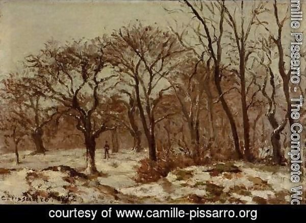 Camille Pissarro - Chestnut Orchard in Winter 1872