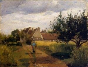 Camille Pissarro - Entrance to a Village 1863