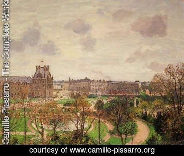 Camille Pissarro - Garden of the Louvre Snow Effect 1899