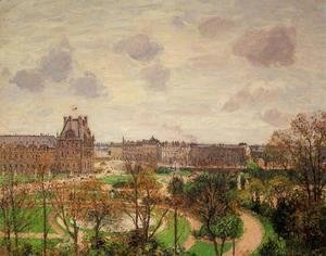 Garden of the Louvre Snow Effect 1899