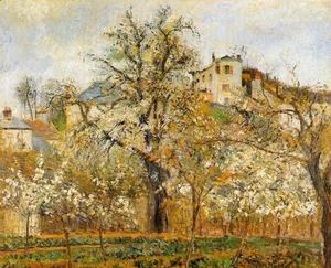 Kitchen Garden witih Trees in Flower Spring Pontoise  1877
