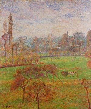 Camille Pissarro - Morning Autumn Efagny  1892