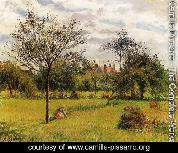 Camille Pissarro - Morning Autumn Sunlight Eragny  1900