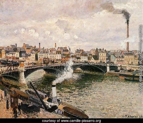 Morning Overcast Day Rouen  1896